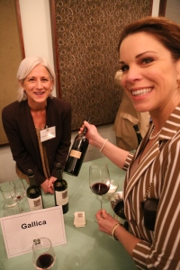 Gallica's winemaker, Rosemary Cakebread with Houston Wine's Mary Ellis LaGarde