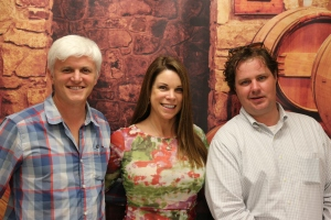 Tim Carl, Houston Wine's Mary LaGarde, and Spec's Nate Rose